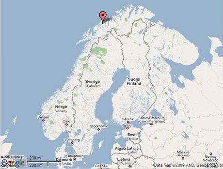 Mapa Norsko