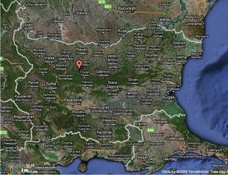 Mapa Bulharska