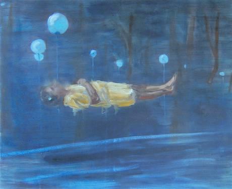 Z výstavy Normální malba - Levitace