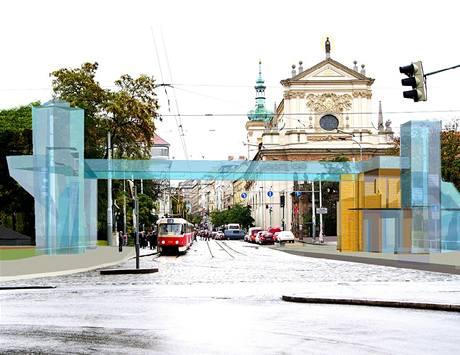 Úprava Karlova náměstí, návrh č. 1