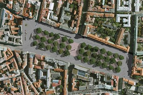 Úprava Karlova náměstí, návrh č. 14