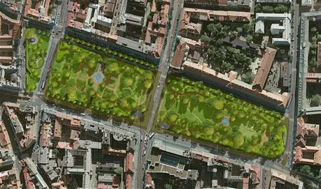 Úprava Karlova náměstí, návrh č. 16
