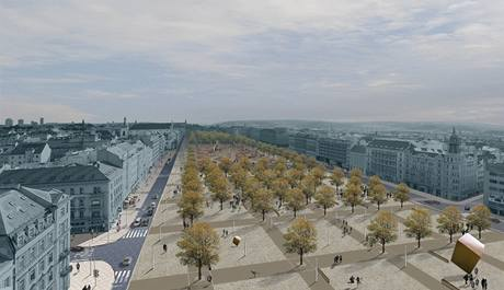 Úprava Karlova náměstí, návrh č. 2