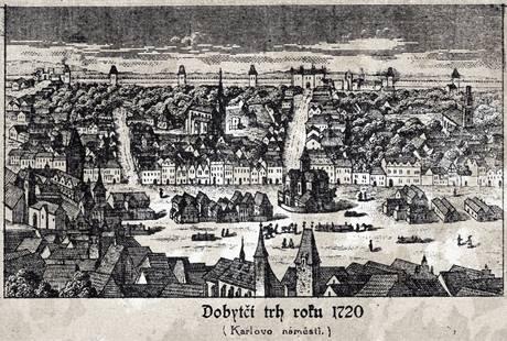 Dobytčí trh roku 1720