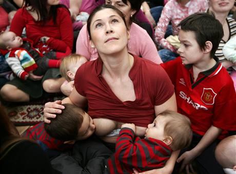 Matky s dětmi fotila Sára Saudková