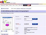Ukázka jedné aukce na eBay s údajně 512GB klíčenkou