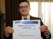 Ministr školství Ondřej Liška na zasedání vlády (26.1.2009)
