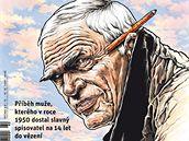 Respekt, který vyšel 13. října 2008. Milan Kundera v podání Pavla Reisenauera.