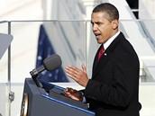 Prezident Barack Obama pronáší svůj inaugurační projev
