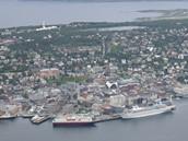 Přístav Tromsö na severu Norska