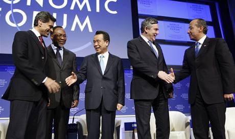Jednání Světového ekonomického fóra. (31. ledna 2009)