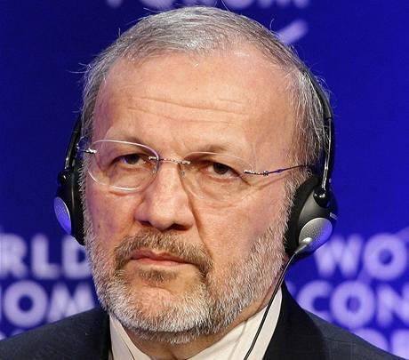 Íránský ministr zahrani�í Manú�ehr Mottakí (30. ledna 2009)