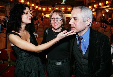 Martha Issová s Lenkou Termerovou a otcem - nominační večer 16. ročníku filmových cen Český lev