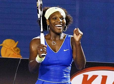 Serena Williamsov� slav� triumf ve fin�le Australian Open 2009
