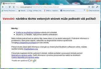 google chyba