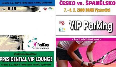 Vstupenky na Fed Cup v Brně do prezidentské VIP lóže