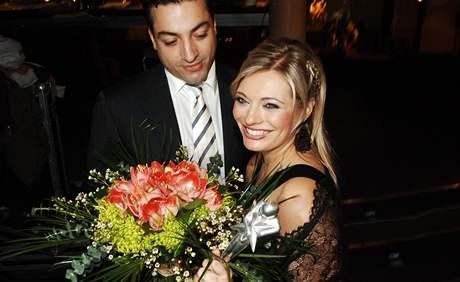 Lucie Borhyová s partnerem Nikem