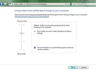 Windows 7 - UAC