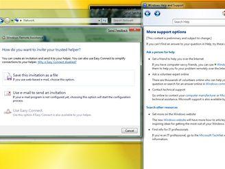 Help ve Windows 7 se zatím příliš nelyší od Visty