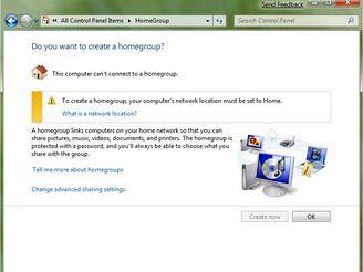 Domácí síť Windows 7