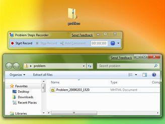 Nahrávání úkonů ve Windows 7