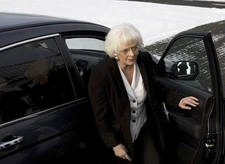 Nová islandská premiérka Johanna Sigurdardottir před svým jmenování. (1. února 2009)