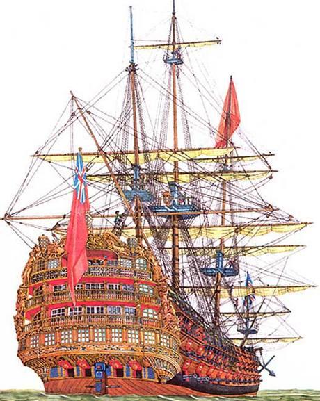 Loď Victory, která se potopila v roce 1744.