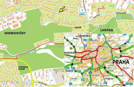 Mapa - Hodkovičky