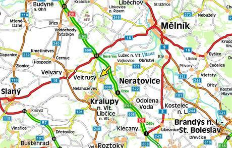 Mapa - Veltrusy