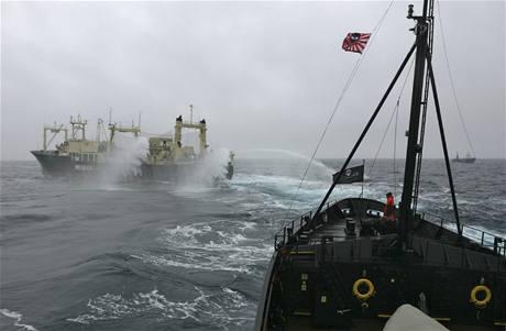 Ekologičtí aktivisté svádějí na moři bitvu s japonskými velrybáři.