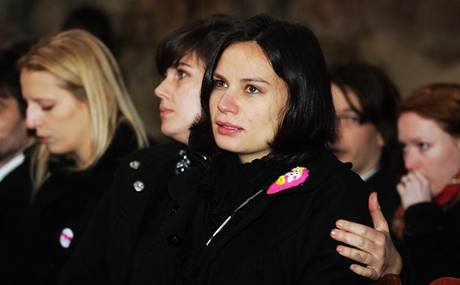 Eli�ka Kaplicky Fuchsová - poslední rozlou�ení s Janem Kaplickým