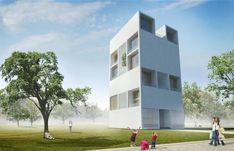 Vítězný návrh studentské soutěže Bytový dům pro 21. století