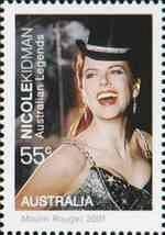 Here�ka Nicole Kidmanov� na australsk� zn�mce (podobizna z filmu Moulin Rouge)