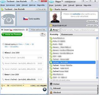 Skype 4.0 nabízí zejména změněné ovládání