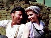 Herečka Dana Vávrová s Wernerem Stockerem na obalu DVD k filmu Rama Dama