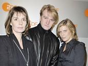 Herečka Dana Vávrová s kolegy Detlefem Buckem a Valerií Niehausovou z filmu Die Gustloff (2008)