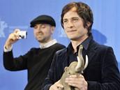 Berlinale 2009 - herec Gael García Bernal a režisér Lukas Moodyssen před projekcí filmu Mamooth