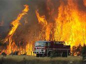 Požáry na jihovýchodě Austrálie.