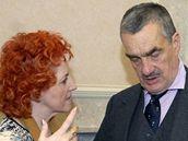 Vlasta Parkanová a Karel Schwarzneberg