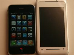 Toshiba TG01 a Apple iPhone