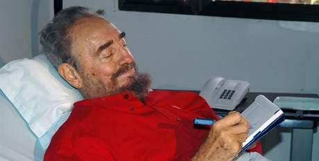 Fidel Castro v nemocnici v létě 2006