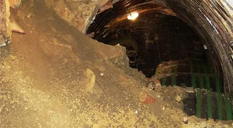 Vinný sklep na Kraví hoře v Bořeticích zničený sesuvem