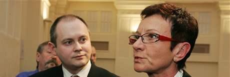 Michal Hašek a Anna Procházková po jednání koalice Jihomravského kraje o poplatcích