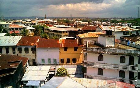 Pohled na město Zanzibar.
