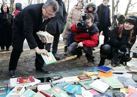 Akci na podporu Kaplického knihovny podpořil i bývalý pražský primátor a architekt Jan Kasl.(12.2.2009)