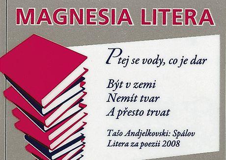 Magnesia Litera - text básně z etikety minerální vody