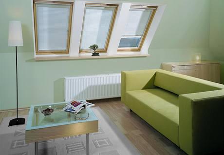 Zkosený strop omezuje množství použitého nábytku