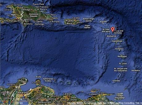 Mapa Guadeloupe