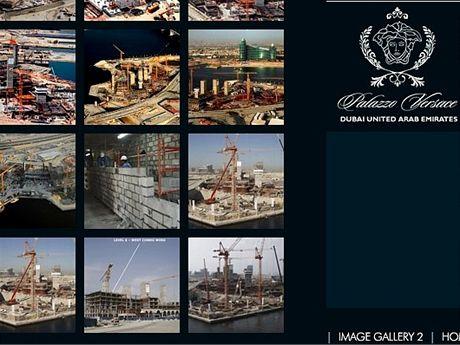 Výstavba hotelu Pallazo Versace v Dubaji s chlazenou pláží