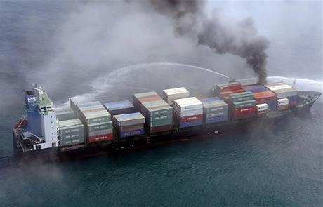 Kontejnerová loď, se kterou se Kasmir srazil.